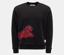 HerrenRundhals-Sweatshirt 'Wolk Leo' schwarz