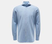 HerrenCasual Hemd 'Sergio Gaeta' Haifisch-Kragen rauchblau