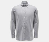 HerrenCasual Hemd 'Gable' Button-Down-Kragen hellgrau
