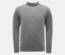 HerrenCashmere Rundhals-Pullover dunkelgrau
