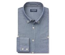 Woolrich - Chambray-Hemd Button-Down-Kragen blau