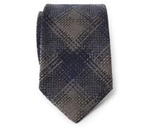 Krawatte braun/dark navy gemustert