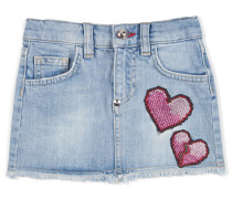 "denim skirt ""show your love"""
