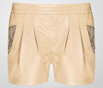"leather shorts ""clarity"""