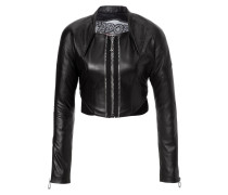 """leather jacket """"comes love"""""""