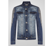 "denim jacket ""square studded"""
