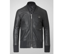 "leather blouson ""burner"""