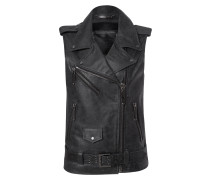 "leather vest ""going crazy"""