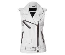 "leather vest ""j'adore plein"""