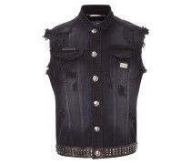 "denim vest ""dead punk"""