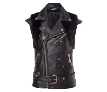 "leather vest ""u understand me"""
