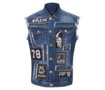 "denim vest ""bad boy"""