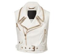 "leather vest ""elle"""