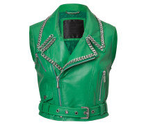 "leather vest ""elle"""
