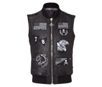 "leather vest ""gaspe"""