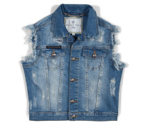 "denim vest ""sunrise"""