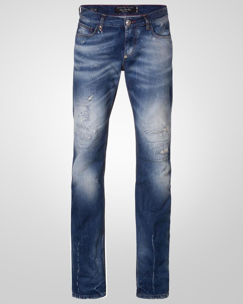 philipp plein herren jeans texas skull 30 reduziert. Black Bedroom Furniture Sets. Home Design Ideas