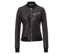"""Leather Bomber """"Forest"""""""