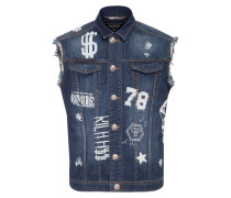 "denim vest ""hooligan"""