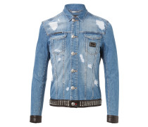 "denim jacket ""dead punk"""