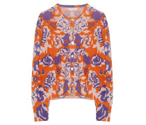 Kaschmir Cardigan Print Orange Lila