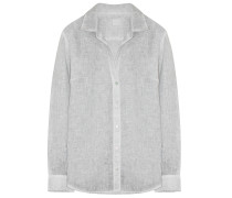 120% LINO Leinen Bluse Soft Silver