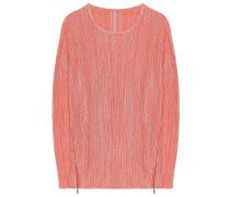 Pullover Zip Koralle