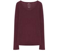 Velvet Shirt Oriana Rot