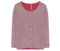 Strick-Jacke 3/4-Arm Berry