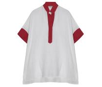 Leinenhemd Weiß Rot