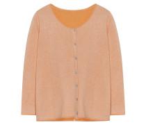 Strick-Jacke 3/4-Arm Coral Orange