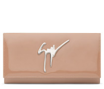 220x110 mm pink patent leather clutch CLEOPATRA