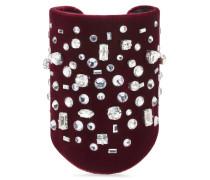 Burgundy velvet bracelet THE DAZZLING PEYTON