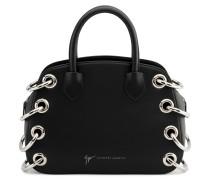 Black calfskin leather handbag G#18