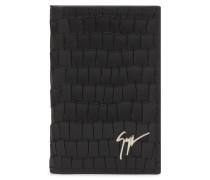 75x115 mm black crocodile embossed calfskin wallet ALBERT