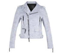 Grey fabric motorcycle jacket AMELIA