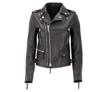 Women's black nappa leather jacket DENZEL