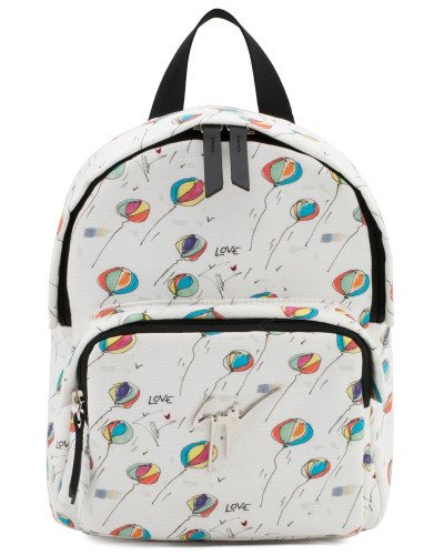 Giuseppe Zanotti Damen Balloon printed fabric backpack BALOONS JR