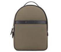 305x425 mm beige neoprene backpack BOSTON
