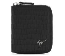 90x110 mm black crocodile-embossed wallet TOM