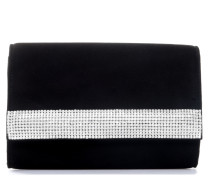 Black suede pouch with Swarovski DESIRE'