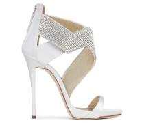 120 mm white satin sandals ELLA