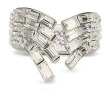 Baguette crystal brass ring VERA