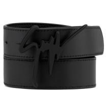 Black calfskin belt GIUSEPPE