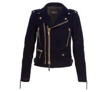 Dark blue velvet jacket ZIGGY