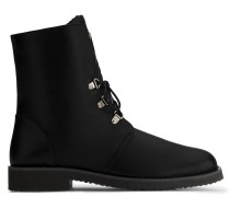 Black nappa boot with shearling fur FORTUNE