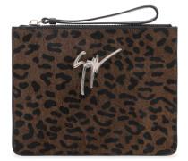 250x200 mm leopard calf hair clutch MARGERY