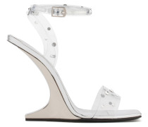 Transparent plexi wedge with 'sculpted' heel PICARD SHINING