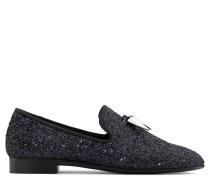 Fabric loafer with black glitter SPACEY