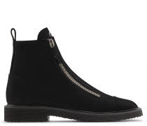 Black calfskin leather boot JEROME